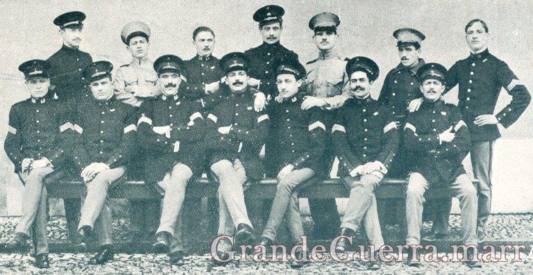 Grupo de sargentos expedicionários In: Ilustração Portuguesa (Colecção particular)