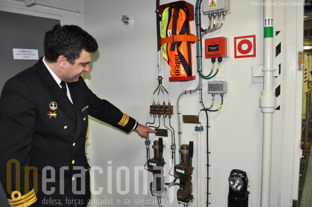 De um modo geral todos os sistemas do navio que estão aotomatizados e comandados da ponte, podem no entanto ser operados manualmente no local. Aqui mais um caso.
