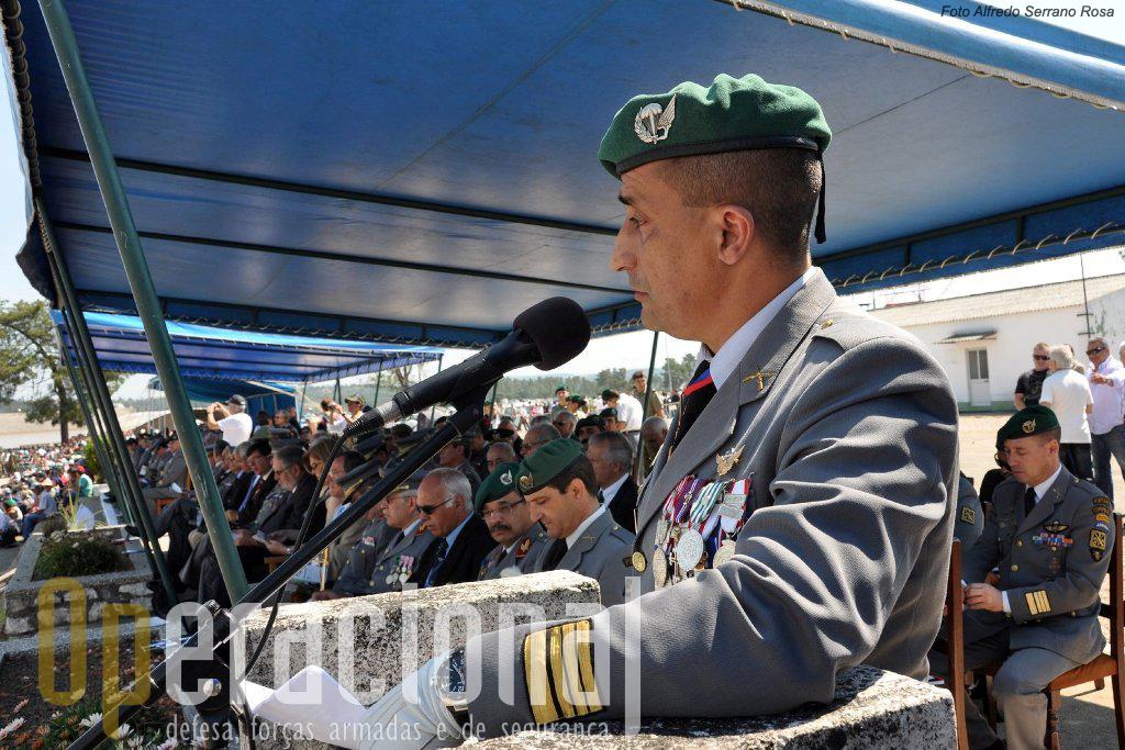 O Coronel Pára-quedista Frederico Almendra quem em breve termina o seu comando da Escola de Tropas Pára-quedistas.