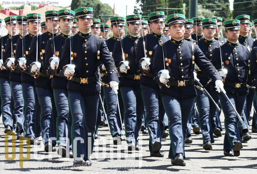 Na Academia Militar do Exército Português, instituição de ensino superior, são formados os futuros oficiais da Guarda Nacional Republicana.