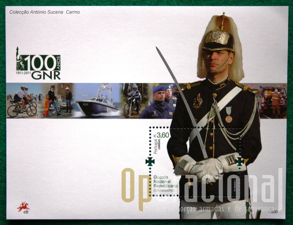 O bloco comemorativo dos 100 ANOS DA GNR.