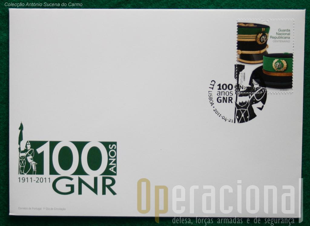 O FDC com o selo e a obliteração do 1º dia de circulação.