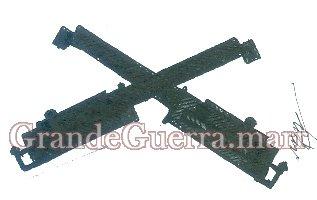 Duas metralhadoras de pano preto