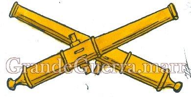 Um emblema na platina do lado direito