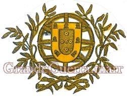 Braçal de pano, colocado no braço direito, sendo metade verde e a outra vermelho, tendo no meio bordado a ouro, a esfera armilar com o escudo nacional, ficando a parte vermelha por cima