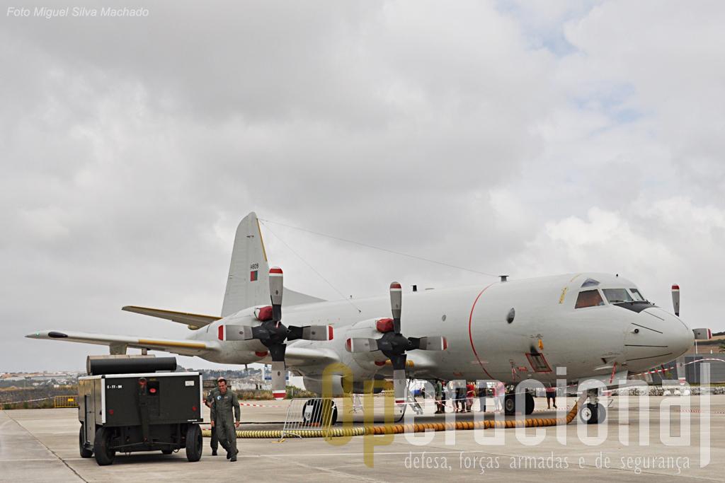 """Um P-3 CUP+ do total de 5 que a Força Aérea recebeu e cuja modernização está em curso. Estas aeronaves, bem como as anteriores P3-P Orion, estão atribuídas à Esuadra 101 """"Lobos"""" da Base Aérea n.º 11 (Beja)."""