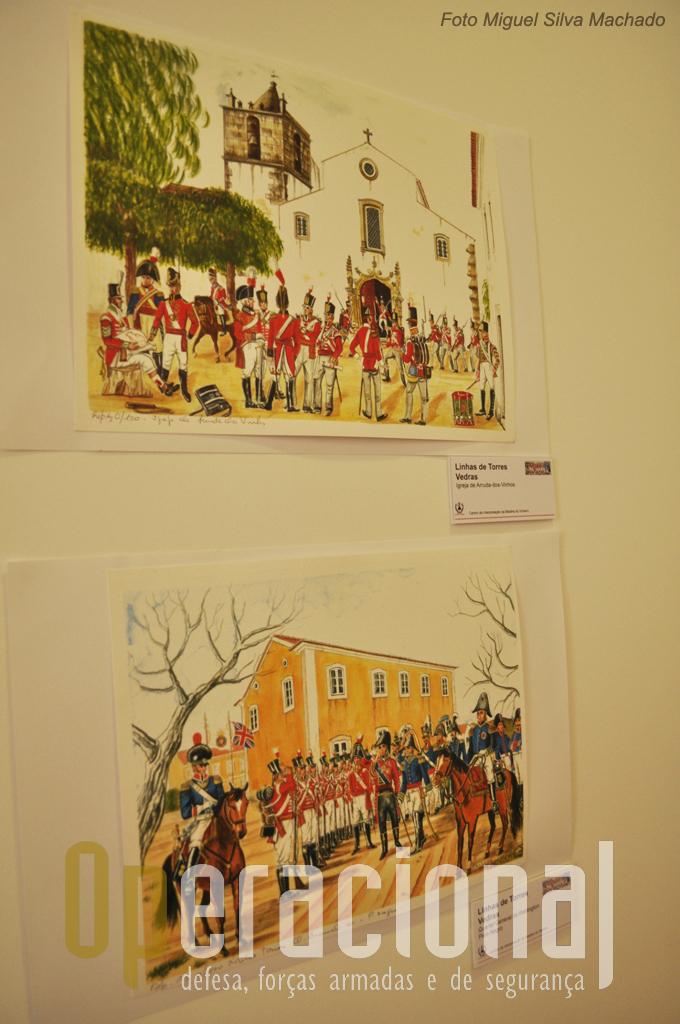 Estão expostos e vendem-se gravuras alusivas às invasões francesas, quase e sempre em locais ainda hoje reconheciveis, da autoria de Salvador Ferreira.
