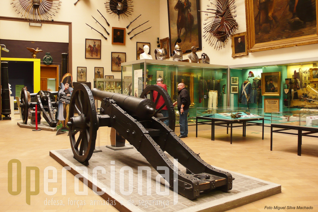 A Sala Histórica é dedicada à história militar da Bélgica entre 1815 e 1914...