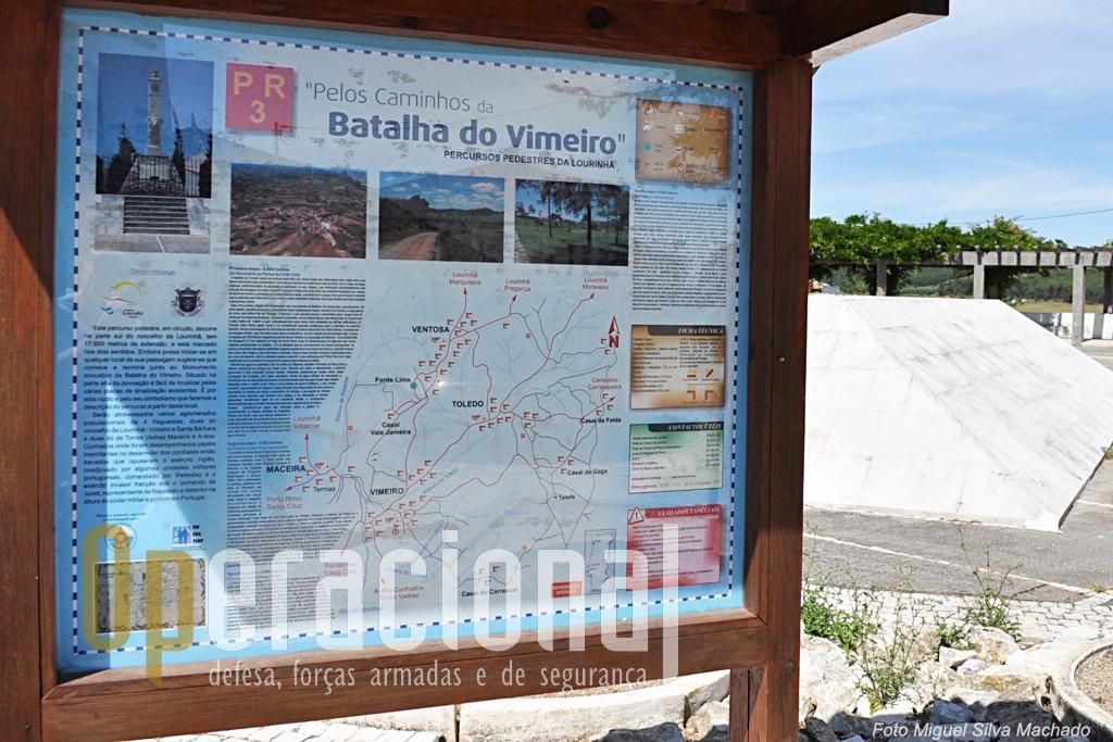 """Os adeptos dos passeis pedetres têm na região uma sugestão que percorre 17.600m em 4 etapas (PR 3 """"Pelos caminhos da Batalha do Vimeiro""""), e onde locais que foram palco dos combates de 1808 podem ser visitados."""