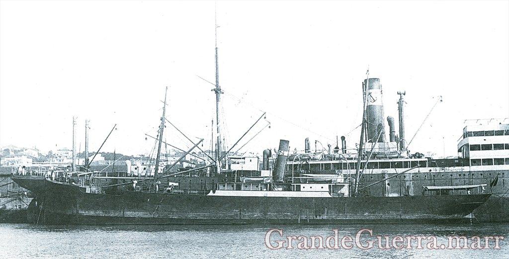 """Transporte """"Pungué"""", ex-cargueiro de longo curso alemão """"Linda Woermann"""""""