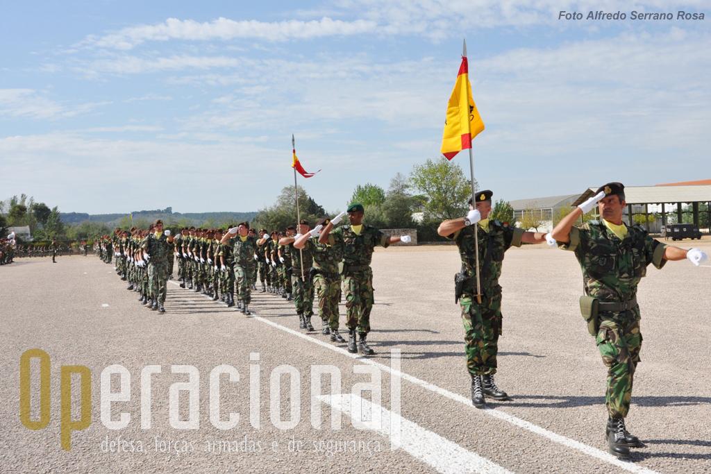 O Grupo de Artilharia de Campanha sob o comando do Tenente-Coronel de Artilharia António Grilo.