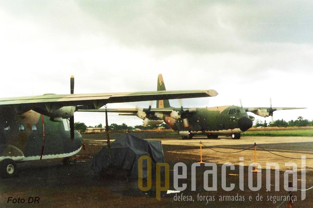 Aeroporto Internacional de S. Tomé, um dos pontos de apoio das forças portuguesas nesta operação.