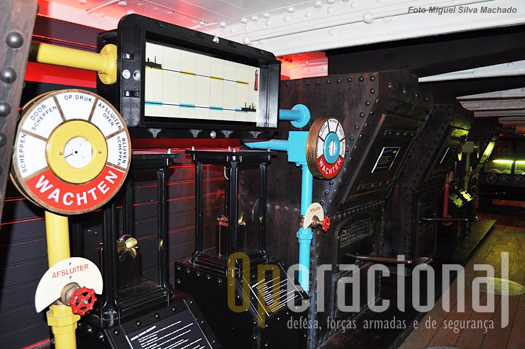 Mais um sector adapatado para permitir através de jogos, a interacção com o visitante.