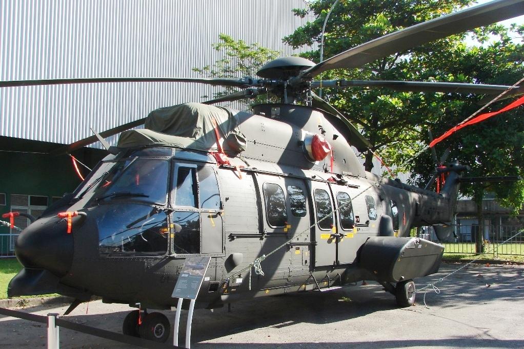 O EC725 do Exército Brasileiro. Este ramo receberá 16, assim como a Marinha e a Força Aérea 18.