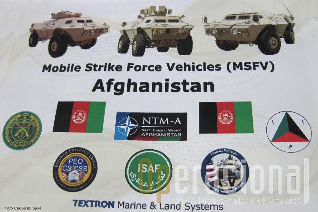 """Depois dos EUA, Colombia, Bulgária e Iraque com cerca de 3.000 viaturas desta familia,  a """"Textron"""" está agora a fornecer  o Afeganistão."""