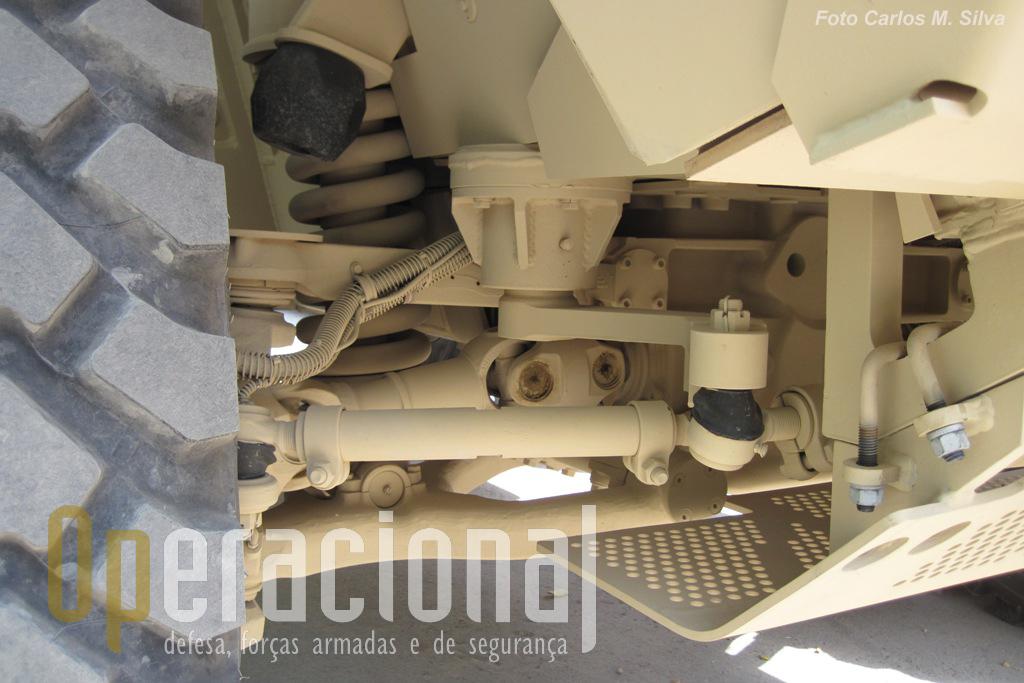 Detalhe que ilustra bem a ausência de fundo do chassis em forma de V.