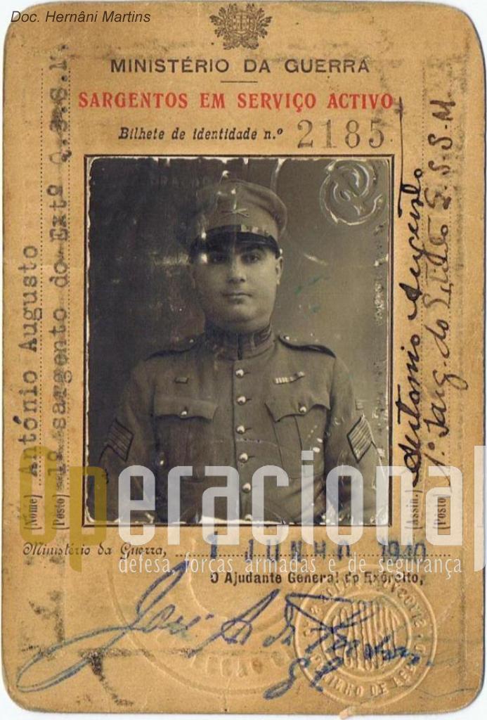 António Augusto, 1.º Sargento do Exército Português em 1940