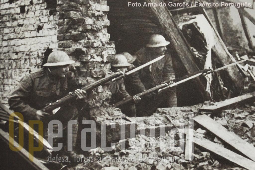Soldados portugueses em França no decurso da Grande Guerra.