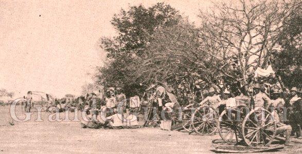 Metralhadoras e a 10ª Companhia de Landins na face direita