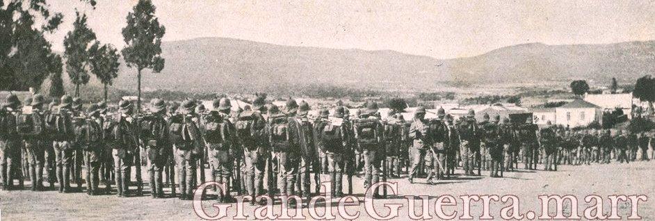 Formatura no Lubango, antes de partirem ao encontro dos alemães