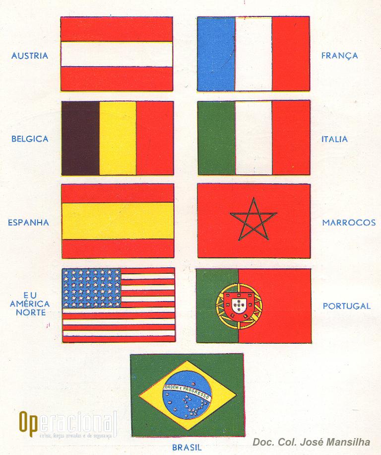 Países que participaram neste campeonato organizado pelo Brasil.