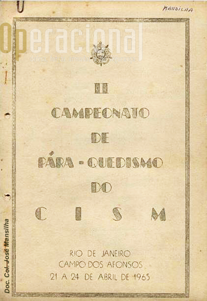 Instruções para os concorrentes (capa).