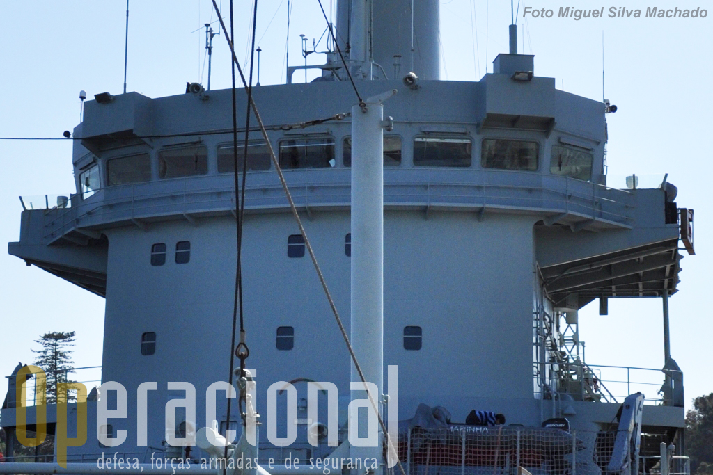 A Ponte do navio, a partir da qual se controla a manobra do navio e garante a segurança da navegação.