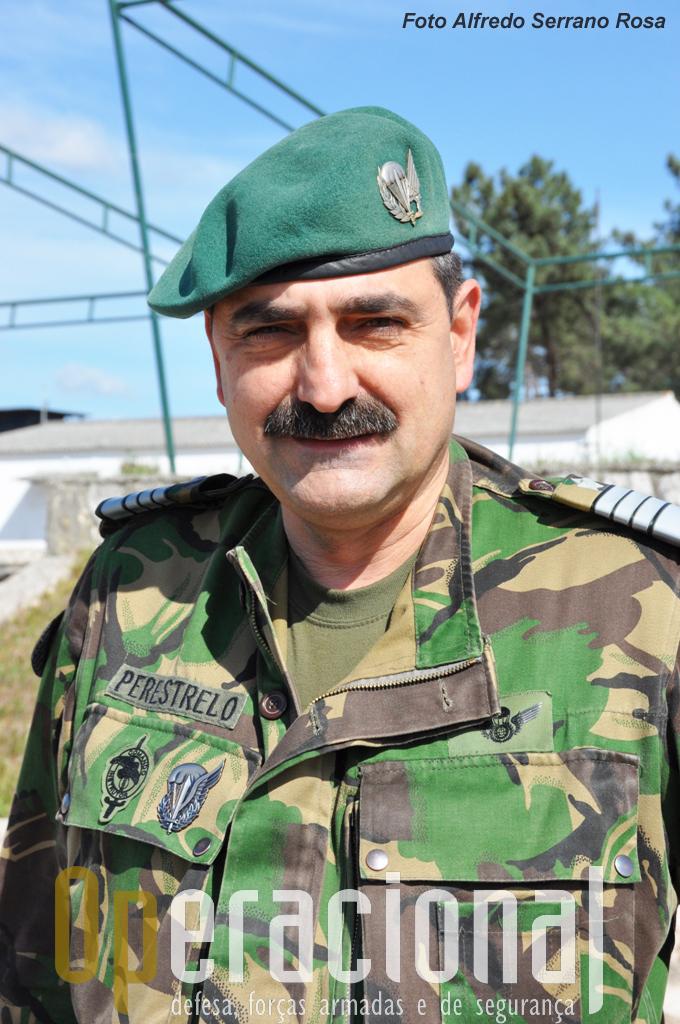 O Coronel Tirocinado Paraquedista PERESTRELO, 2º Comandante da Brigada de Reação Rápida (BRR).
