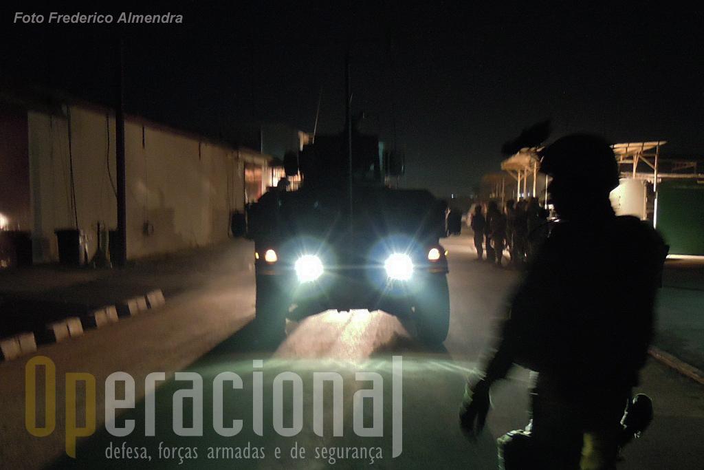 Mais uma missão nocturna para os portugueses está prestes a começar em Cabul.