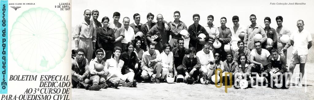 Capa do Boletim do 3.º curso e foto dos finalistas do curso: no centro a Helena Revés, do segundo curso, à direita do pai.