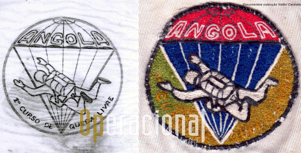 Esboço e emblema do curso.