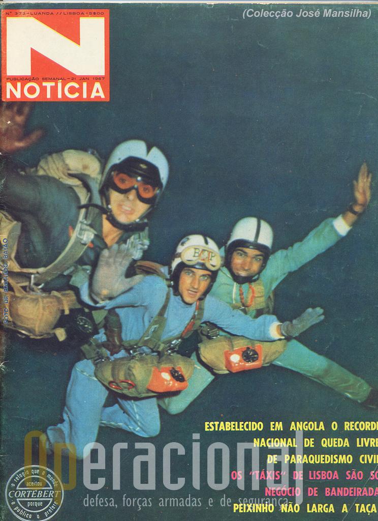 """Capa da """"Noticia"""" / Angola: Ferreira da Costa, José Mansilha e Albano Carvalho"""