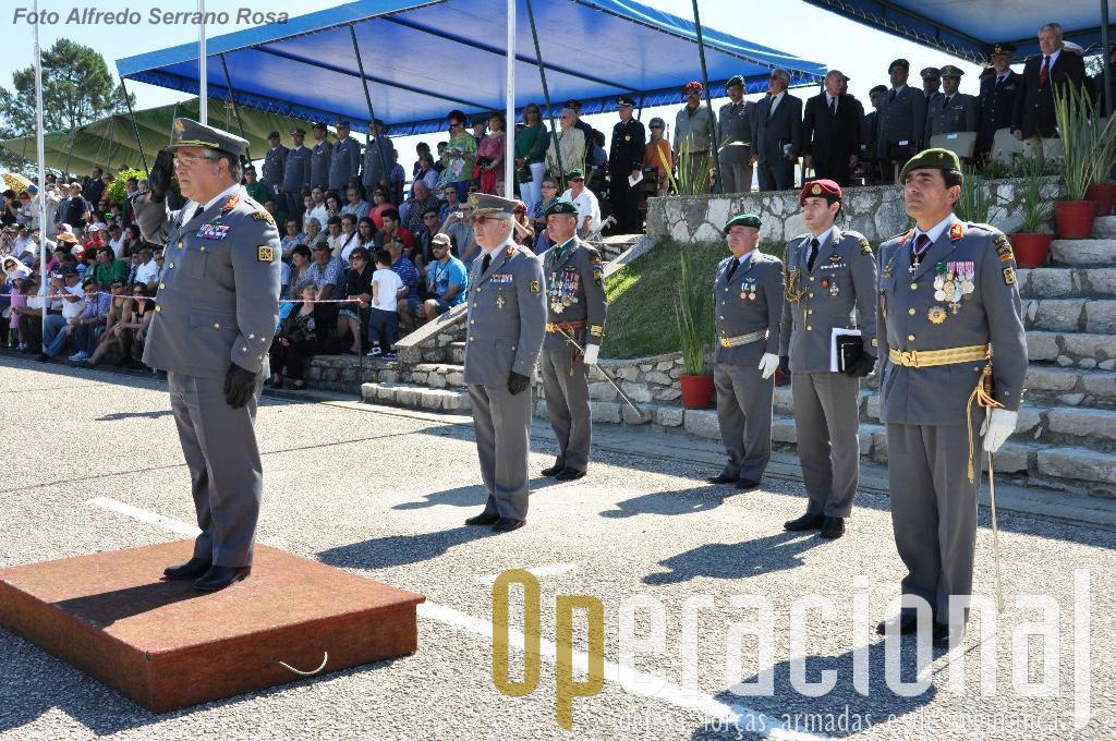 O Chefe do Estado-Maior do Exército, General Pina Monteiro, presidiu à cerimónia, e esteve acompanhado pelo Comandante das Forças Terrestres, Tenente-general Amaral Vieira e pelo comandante da Brigada de Reacção Rápida, Major-General Campos Serafino.