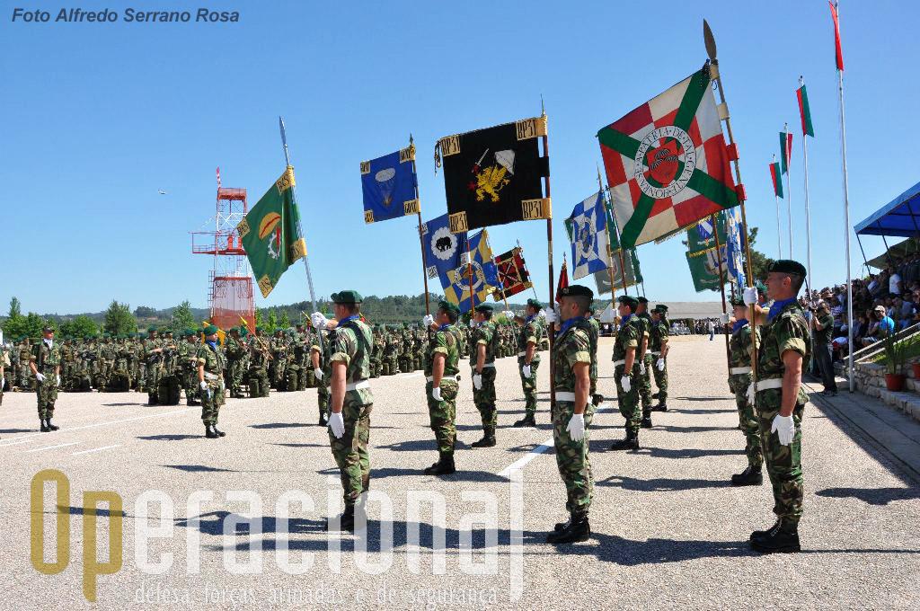 Os Guiões Heráldicos de todas as unidades pára-quedistas que existiram em Portugal (metrópole e ultramar). A ETP é a herdeira do seu património histórico e moral.
