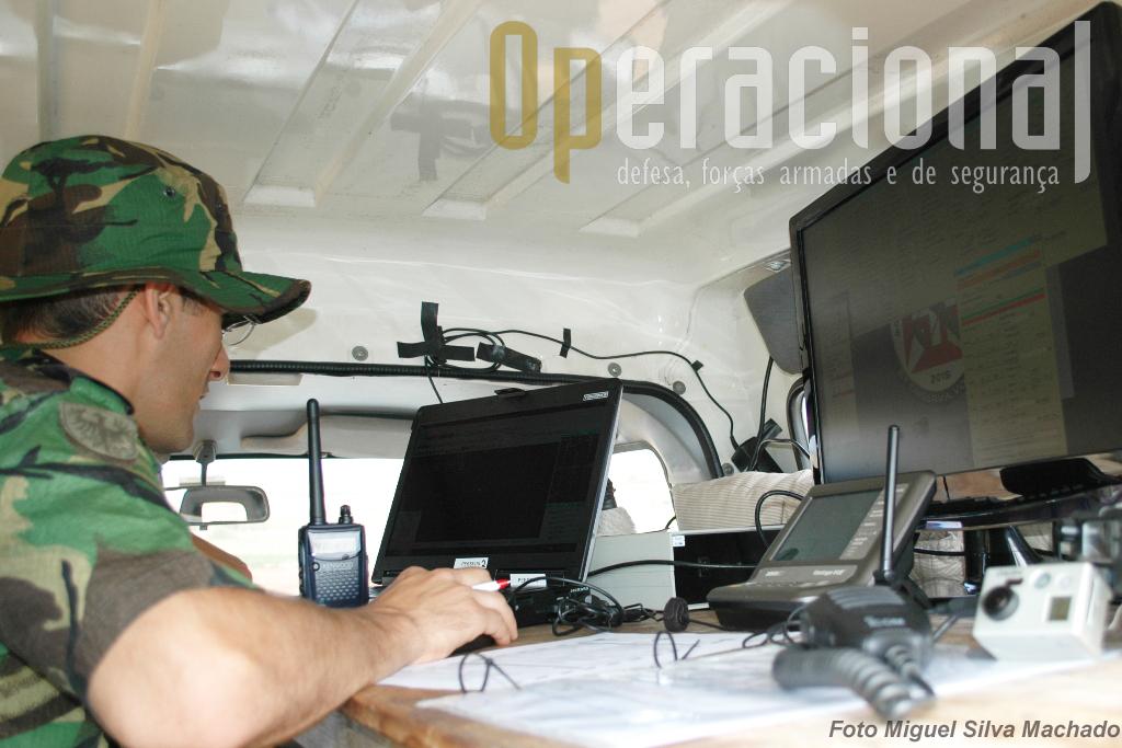 É neste dois monitores que o piloto UAV cumpre a sua missão.