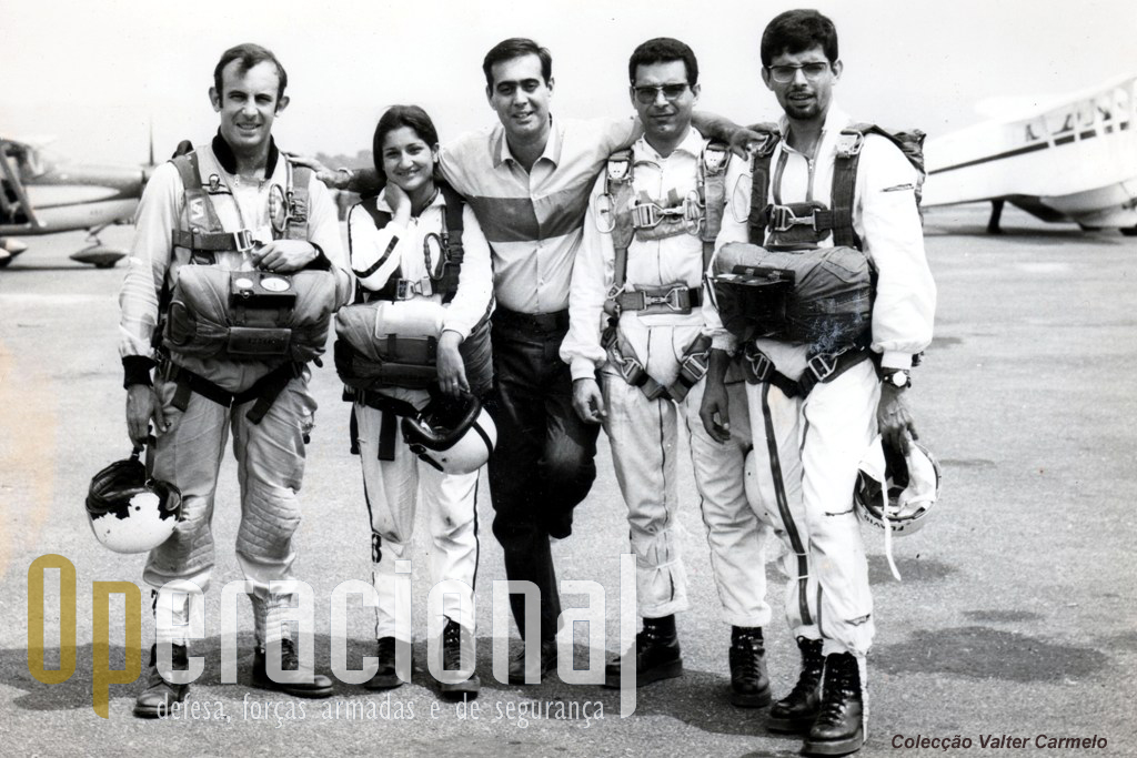Da esquerda:  Vasco Vieira, Helena Revés, Gonçalves, Valter Carmelo e Flávio Carmelo