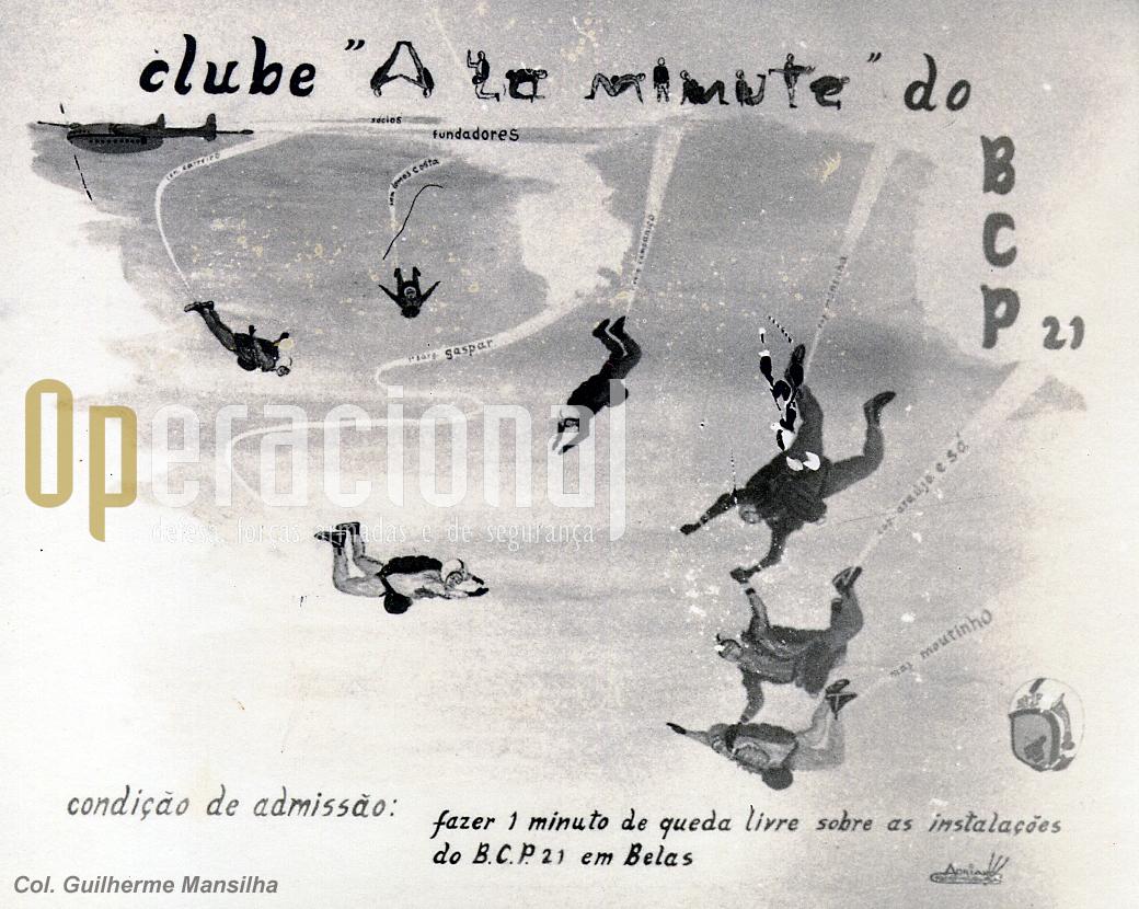 "Painel alusivo ao clube que ""ornamentava"" as Ops/Infs do BCP 21."