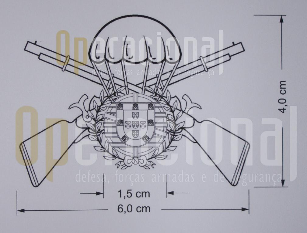 Desenho gráfico do distintivo de qualificação do Curso de «OPERAÇÕES AEROTERRESTRES».(*)