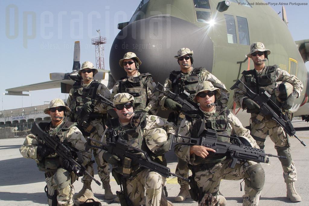 A Unidade de Protecção da Força no Afeganistão. Este pequeno destacamento da Polícia Aérea também optou pela HK G-36 e pela HK MG 4, ambas 5,56mm.