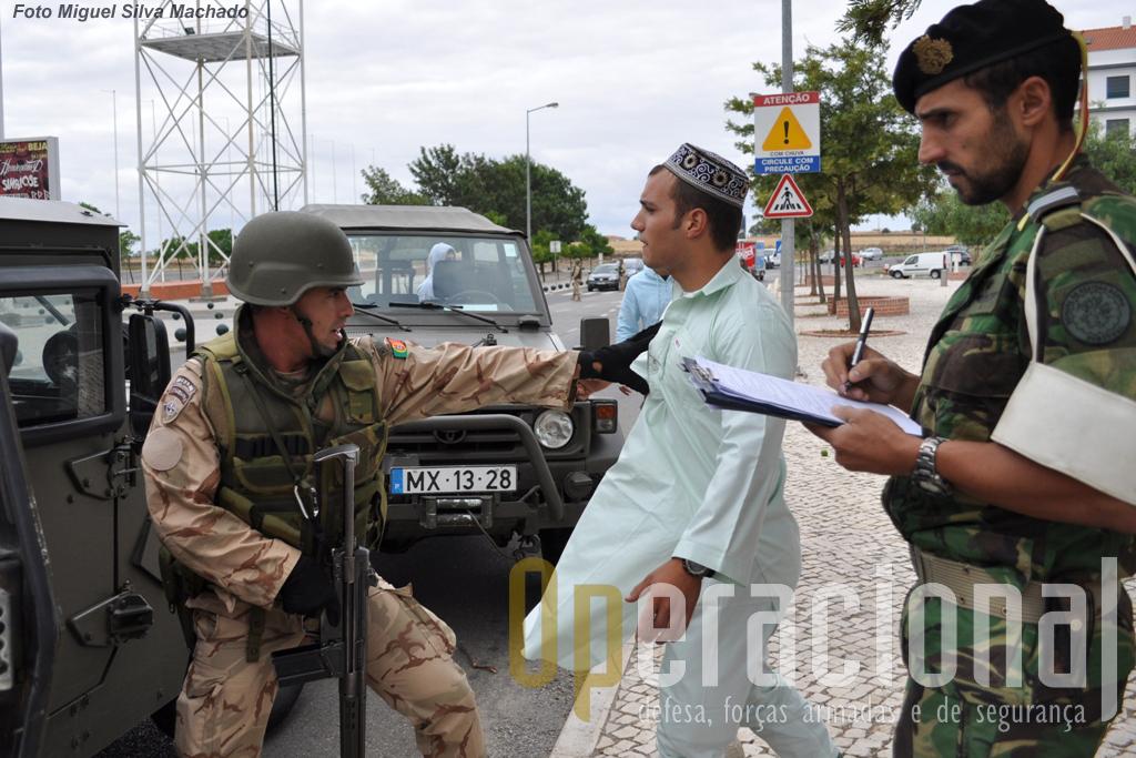 A cidade de Beja foi um dos palcos do exercício, onde com o realismo possivel, foi feita a avaliação do 5.º Contingente Nacional para o Afeganistão.