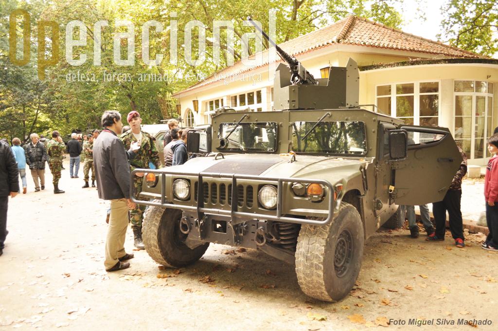 O HMMWV do Centro de Tropas Comando, viatura conheceida pelo seu serviço no Afeganistão, onde apesar das suas limitações continua a servir.