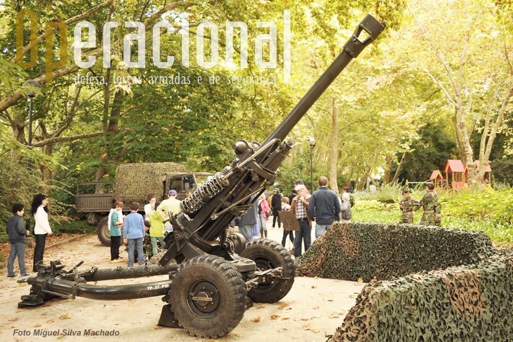 O obus  L 119 10,5mm (Light Gun) do Regimento de Artilharia N.º 4 (Grupo de Artilharia de Campanha da Brigada de Reacção Rápida).