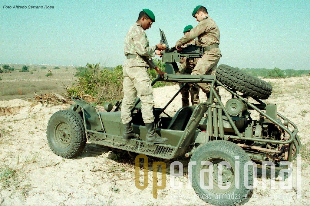 Pouco tempo depois da sua chegada a Portugal, testes de fogo real com o novo armamento foram efectuados na carreira de tiro do Muranzel, perto de S. Jacinto.