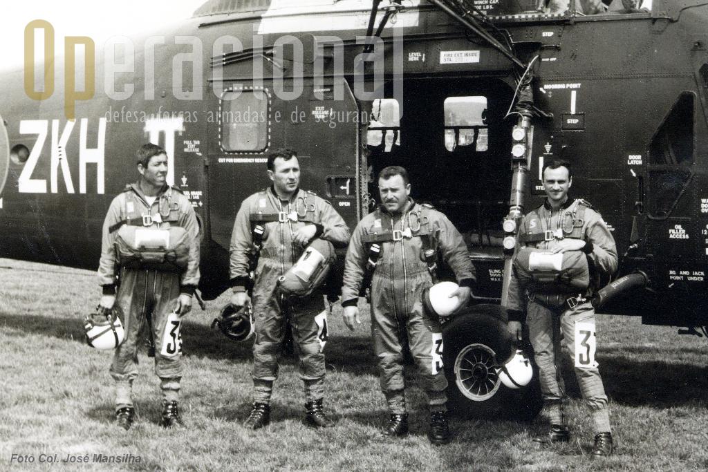 A equipa que esteve na Bélgica em 1971. Da esquerda, Cavaco, Mota, Arlindo e Mansilha.