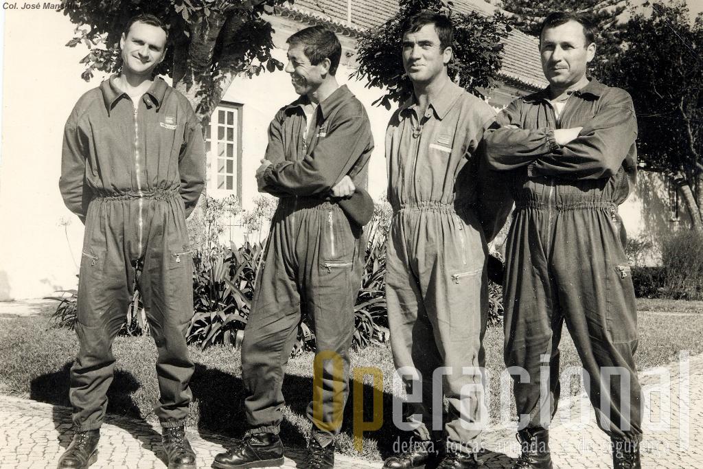Da esq. Mansilha, Cavaco, Mário Pinto e Mota