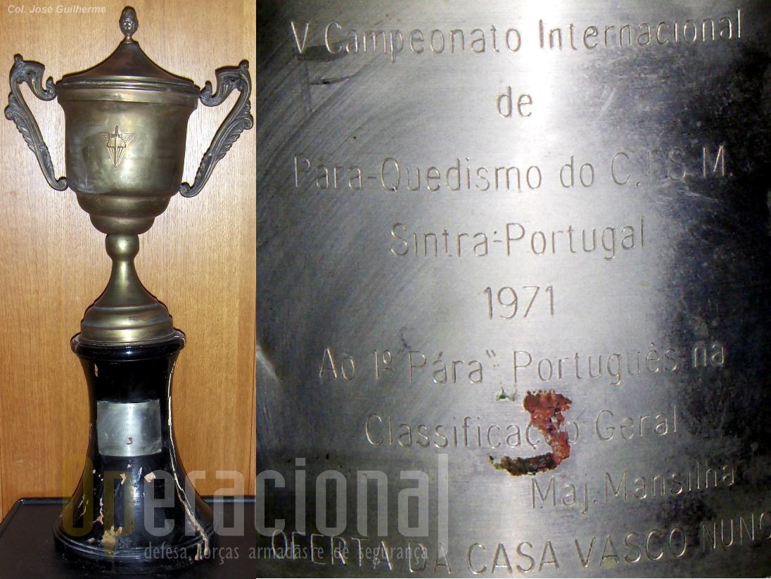 Taça atribuída ao major Mansilha.