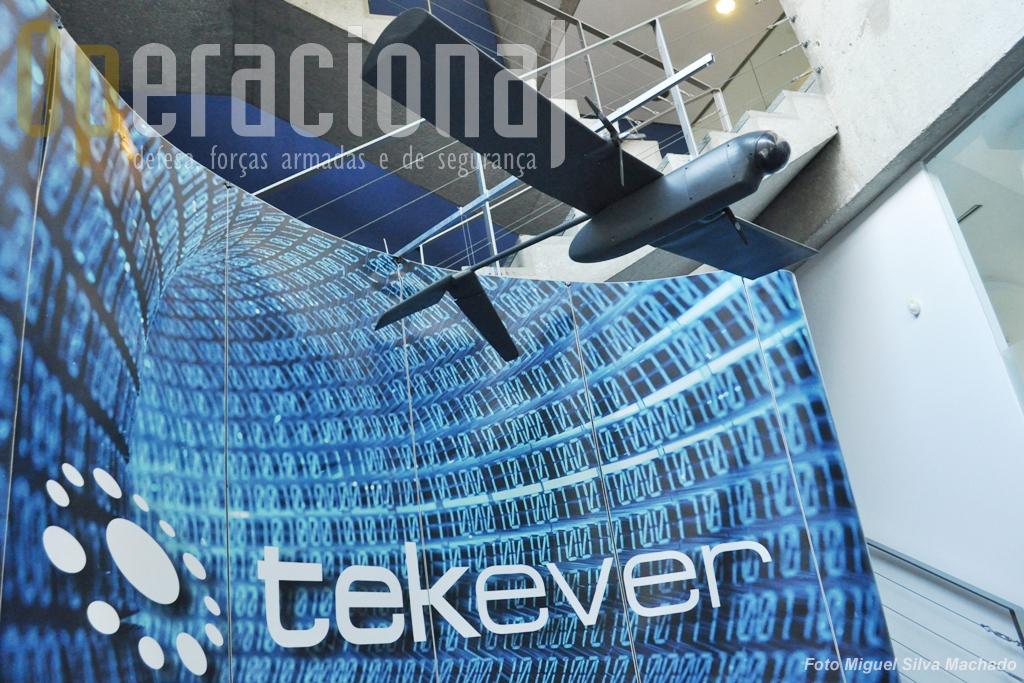 Este foi o primeiro UAV da Tekever que fez muitos voos de teste mas nunca chegou à fase produção. Está hoje na sede da empresa para recordar o caminho percorrido.
