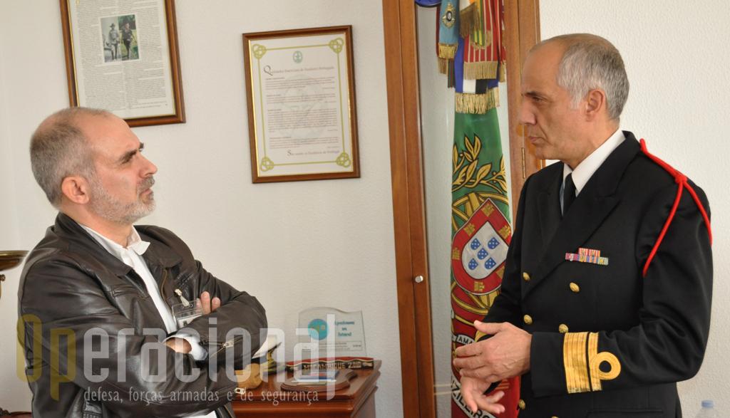 """O """"Operacional"""" foi recebido pelo Contra-Almirante Picchioci no passado dia 5 de Fevereiro de 2013."""
