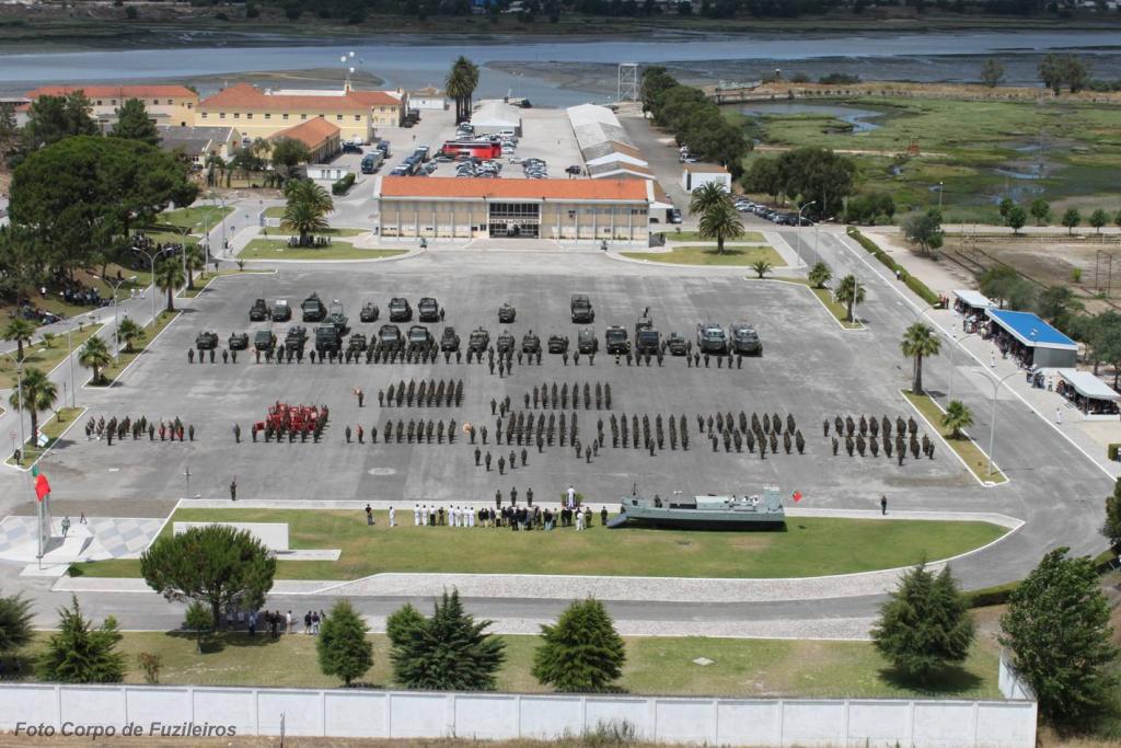 A Escola de Fuzileiros em Vale de Zebro.