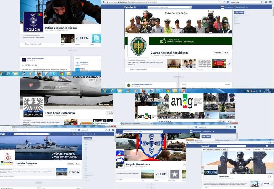 A profusão de páginas no facebook que abordam temas ligados à Defesa Nacional, Forças Armadas e Forças e Serviços de Segurança, é uma realidade com a qual as instituições têm de viver.